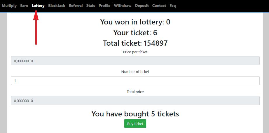 Лотерея в кране Free Ethereum