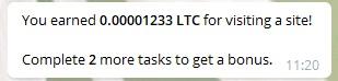 Заработок криптовалюты за просмотр сайта